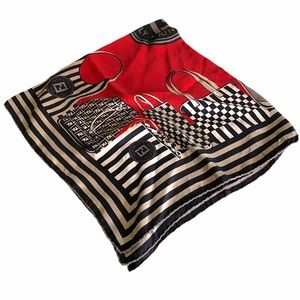 '90s vintage FENDI Silk foulard (scarf)